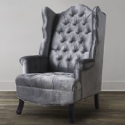 TOV Madison Wing Chair; Grey