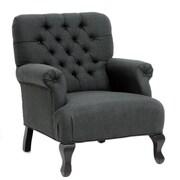 TOV York Club Chair; Grey