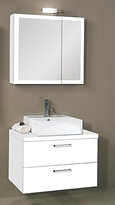Iotti by Nameeks Aurora 30'' Single Bathroom Vanity Set with Mirror; Glossy White