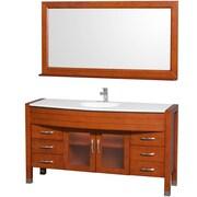 Wyndham Collection Daytona 60'' Single Bathroom Vanity Set with Mirror; Cherry