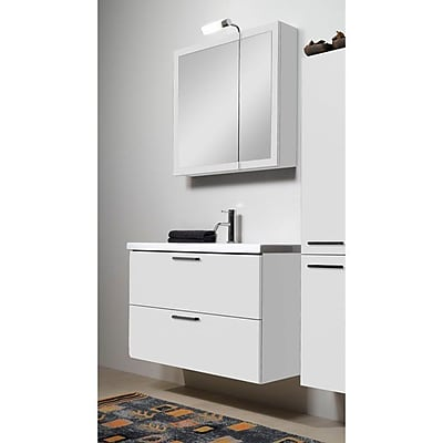 Iotti by Nameeks Luna 39'' Single Bathroom Vanity Set with Mirror; Glossy White
