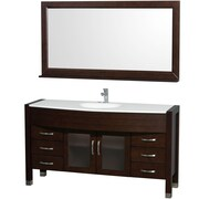 Wyndham Collection Daytona 60'' Single Bathroom Vanity Set with Mirror; Espresso