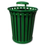 Witt Wydman 36-Gal Outdoor Trash Receptacle; Green