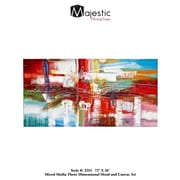 Majestic Mirror Large Rectangular Colorful Painting Print on Wrapped Canvas