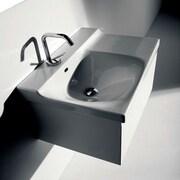 WS Bath Collections Buddy Wall-Mounted Cabinet w/ Ceramic Bathroom Sink