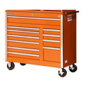 International 43.25'' Wide 11 Drawer Bottom Cabinet; Orange
