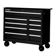 International 42'' Wide 9 Drawer Bottom Cabinet; Black