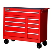 International 42'' Wide 9 Drawer Bottom Cabinet; Red