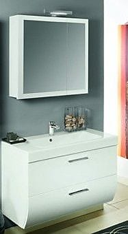Iotti by Nameeks New Day 38'' Single Wall Mounted Bathroom Vanity Set with Mirror; Glossy White