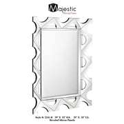 Majestic Mirror Unique Contemporary Wood Framed Rectangular Beveled Glass Hanging Wall Mirror