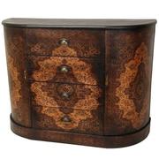 Oriental Furniture Olde-Worlde European 4 Drawer Credenza