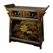Oriental Furniture Asian 2 Drawer Altar Cabinet