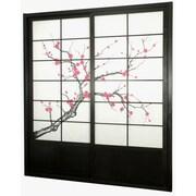 Oriental Furniture 83'' x 73.5'' Cherry Blossom Shoji Sliding Room Divider