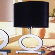 Whiteline Imports Paris 29'' H Table Lamp with Drum Shade; Black