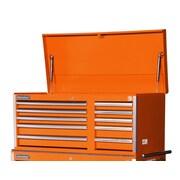 International Tech Series 43.63''W 10-Drawer Top Chest; Orange