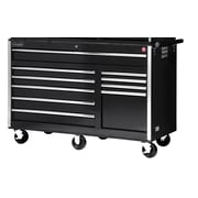International 58'' Wide 10 Drawer Bottom Cabinet; Black