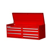 International 52.5'' Wide 7 Drawer Top Cabinet; Red
