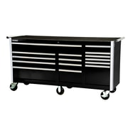 International 77'' Wide 15 Drawer Bottom Cabinet; Black
