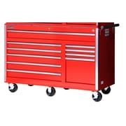 International 58'' Wide 10 Drawer Bottom Cabinet; Red