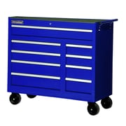 International 42'' Wide 9 Drawer Bottom Cabinet; Blue