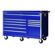 International 58'' Wide 10 Drawer Bottom Cabinet; Blue