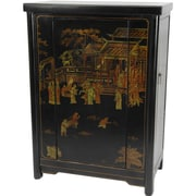 Oriental Furniture Bar Cabinet w/ Wine Storage