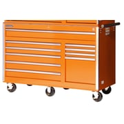International 58'' Wide 10 Drawer Bottom Cabinet; Orange