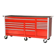 International 77'' Wide 15 Drawer Bottom Cabinet; Red