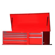 International 56.8'' Wide 6 Drawer Top Cabinet; Red