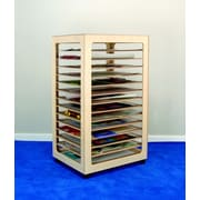 Bird in Hand 49.63'' H x 24.5'' W x 28.63'' D Mobile 14 Compartment Paper Storage Rack