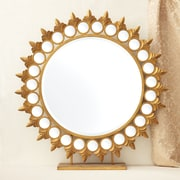 Twos Company Sun Mirror on Pedestal