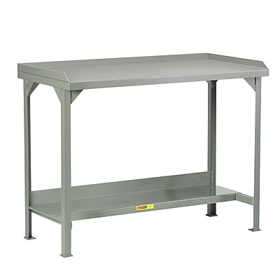 Little Giant USA Welded Steel Workbenches with Back and End Stops; 36'' H x 48'' W x 24'' D