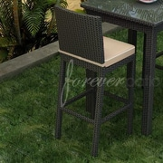 Forever Patio Barbados 29'' Bar Stool with Cushion; Spectrum Mushroom / Spectrum Sand Welt