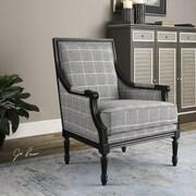 Uttermost Scott Wood Frame Arm Chair