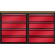 Valley Craft 33''H x 48''W x 21''D Mobile Cabinet; Red