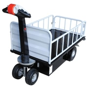 Vestil Top Load Traction Drive Utility Cart with Gate