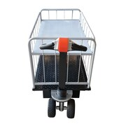 Vestil Traction Drive Utility Cart with 1 Shelf Side Load