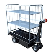 Vestil Traction Drive Utility Cart with 2 Shelf Side Load