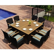 Harmonia Living Arbor 9 Piece Dining Set w/  Cushions; Canvas Spa