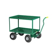 Little Giant USA 24'' x 48'' 2 Shelf Steel Perforated Deck Utility Cart