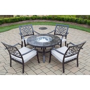 Oakland Living 5 Piece Fir Pit Seating Group with Cushions