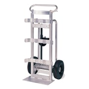 Valley Craft 50'' x 22'' x 10'' Heavy Duty Double Aluminum Frame Cylinder Hand Truck