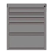 Valley Craft 33''H x 24''W x 21''D Mobile Cabinet; Gray