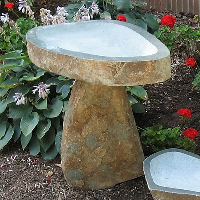 Stone Age Creations Large Granite Boulder Bird Bath; Large WYF078277683421