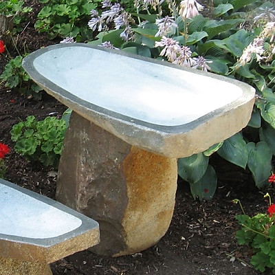 Stone Age Creations Large Granite Boulder Birdbath; Medium WYF078277683422