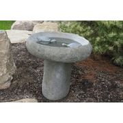 Stone Age Creations Large 2 Turtle Boulder Bird Bath