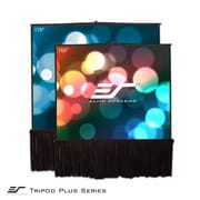 Elite Screens Tripod Stage Large Venue Portable Pull-Up Projection Screen; 153'' Diagonal 1:1