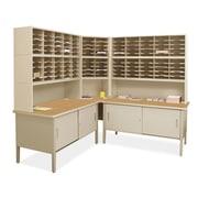 Marvel Office Furniture Mailroom 120 Adjustable Slot Corner Literature Organizer with Cabinet