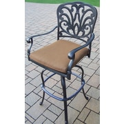 Oakland Living Hampton Bar Stool w/ Cushion; Sunbrella