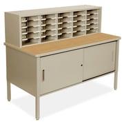 Marvel Office Furniture Mailroom 25 Adjustable Slot Literature Organizer with Cabinet